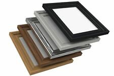 Photo Picture Poster Frame Wide Swept Molding Gloss Finish Black Oak White