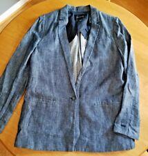 BANANA REPUBLIC Awesome Charcoal Gray Womens Blazer Coat Jacket Size 16 ~
