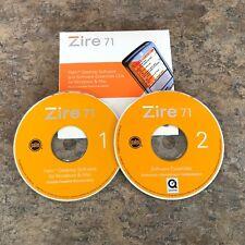 PALM PDA ZIRE 71 SOFTWARE INSTALLATION CDs Windows/Mac 2003 FREE SHIP