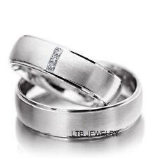 PLATINUM DIAMOND WEDDING RINGS,HIS & HERS PLATINUM MATCHING WEDDING BANDS SET