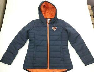 NWT NFL Team Apparel Chicago Bears Full Zip Winter Puffer Jacket Women's Size M