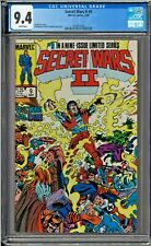 Secret Wars II #9 CGC 9.4 White Pages The Beyonder Thor Hulk Jim Shooter story
