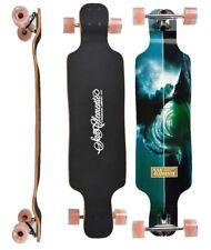 """San clemente LONGBOARD Backwash 9.5""""x 39"""" COMPLETE twin tip skateboard"""