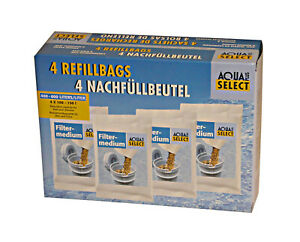 4 Stück Nachfüllbeutel Filtergranulat für Refill Tischwasserfilter Patronen