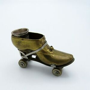 Antique RARE Roller Skate Tape Measure and Thimble Holder