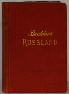 Baedeker Guide Russland 1888 2nd Edition Czarist Russe Empire Cartes