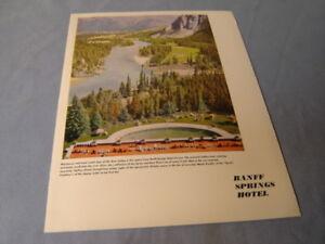 Vintage Banff Springs Hotel Dinner Menu Canadian Pacific Hotel 1950 Scrapbook