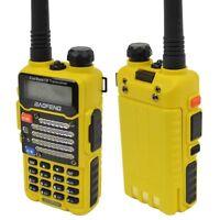 Baofeng Yellow UV-5R V2+ Dual-Band 136-174/400-480 MHz FM Ham 2-way(REFURBISHED)