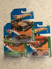 HOT WHEELS LOT OF 3 TREASURE HUNTS: '41WILLYS , '68 OLDS 442, '63 T-BIRD