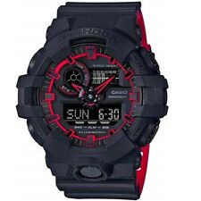 Casio G-Shock GA-700SE-1A4 Black on Red Two Tone Digital Analog Men's Watch