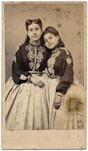 CDV Circus performers Franezzi sisters 1860c Photographie Laisné Palermo S178