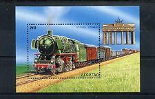 Lesotho 1996 MNH Trains 1v S/S I Railways Züge Trenes Treni Chemin de Fer