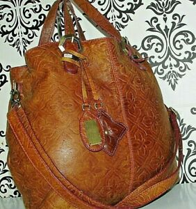 STUNING LARGE MATTHEW WILLIAMSON REAL LEATHER MESSENGER SLOUCH BAG HANDBAG/PURSE