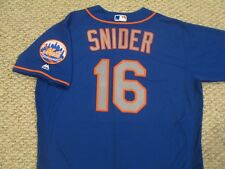 6e3b63880 TRAVIS SNIDER sz 48  16 2017 New York Mets game jersey issue road blue MLB