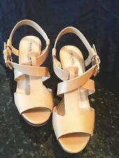 Michael KorsAngeline Platform Wedge Sandal w/ Wooden Heel - Sz 7.5 / 38 - New!