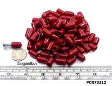 "50 Red Push-On Pliable Vinyl Caps 1/4"" Screw Protector 1/2"" Long"