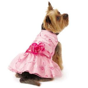 East Side Collection Elegance Rosette Dog Dress Pet Dresses Pink Pretty