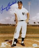 Johnny Blanchard Yankees Signed Jsa Cert Sticker 8x10 Photo Autograph Authentic