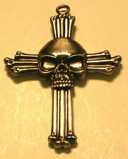 Large Gothic Skull & Cross Of Bones - Knife - Pendent Charm - Letter Opener!