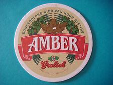 Beer Brewery Coaster  ~*~ GROLSCH Donkerblond Bier ~*~ Enschede, The NETHERLANDS