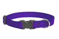 "Lupine Dog Collar 1/2"" PURPLE 8"" - 12"" Nylon New Adjustable Made in USA"
