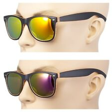 2 Pair men Women vintage Style Indie Fashion Wood Print Sunglasses Purple Revo