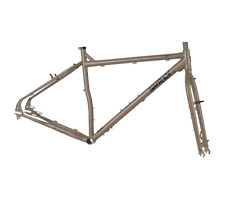 SURLY OGRE XXL FRAME & FORK - CROMO GREY LARGE 29ER TOURING Trail Bike NOS 2014