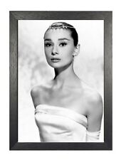 Audrey Hepburn 35 British Actress Model Dancer Humanitarian Portrait Poster B&W