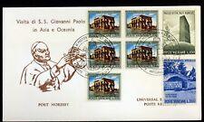 PORT MORESBY  VOYAGE du  Pape Jean-Paul II Vatican Enveloppe PA64