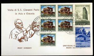 Mobile Moresby Trip/Travel Of Pope John Paul II Vatican Envelope PA64