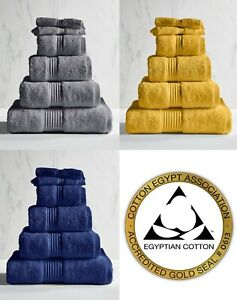 Luxury Face Towel Cloth Pack 2 100% Certified Egyptian Cotton Super Soft 600GSM