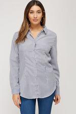 Voyelles Mesh Insert-Back Striped Shirt  Size M (10-12) BNWT