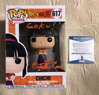 Cynthia Cranz  Signed Autographe Chi Chi Funko Pop Dragon Ball Z BECKETT COA 18