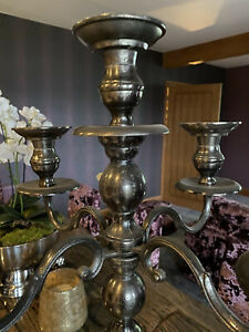tall floor standing or table top candelabra candle holder