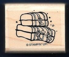 LUGGAGE SUITCASE JEEP RACK HIT THE OFF ROAD LOAD love STAMPIN' UP! RUBBER STAMP