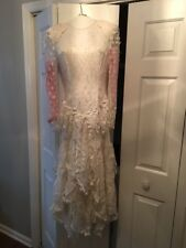 White Lace Wedding Dress Inspired by Stevie Nicks Size 8 Beautifully Preserved