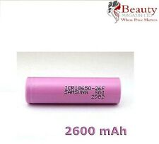 Samsung 18650 26F Li-Ion 2600mAh Genuine Flat Top 3.7V Rechargeable Battery UK
