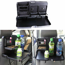 POP Car Cup Holders Dining Table Rear Seat Back Folding Tray Drink Holder Black