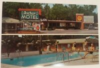 1960s Anchor Motel and Restaurant Postcard AAA Jesup GA