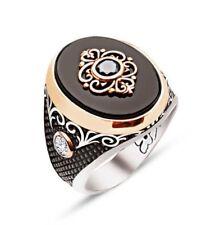 925 Sterling Silver Mens Ring, Turkish Handmade Sterling Silver Ring