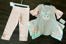 NEW Bonnie Jean Spring Bunny Easter Leggings Tunic 2 pcs Outfit Sz. 6