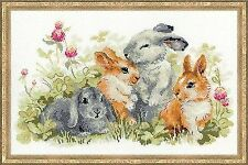 Counted Cross Stitch Kit RIOLIS - FUNNY RABBITS