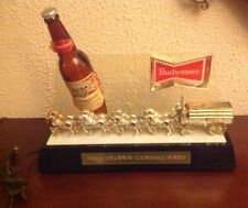 Budweiser King of Beers World Champion Clydesdale Horses lighted sign