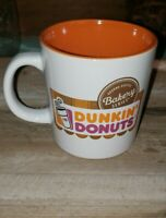Dunkin' Donuts Orange and White Bakery Series Ceramic 12 oz Coffee Mug