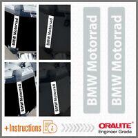 2x BMW Motorrad Bianco / Grigio REFLECTIVE ADESIVI R 1200 1150 F800 F650 F700 GS