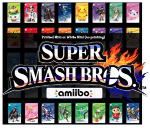 SSBU Super Smash Bros Ultimate Custom Mini NFC Amiibo Card Nintendo Switch 3DS