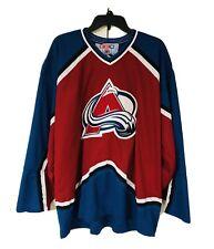 VTG NHL CCM Colorado Avalanche Hockey Jersey Mens XXL
