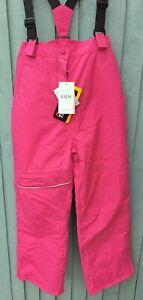 Girls Pink Winter Ski Trousers Braces Waterproof Salopettes 13-14 Yrs M&S BNWT