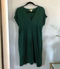 RAVEN + LILY 'Ana' Silk Shift Dress in Evergreen sz M