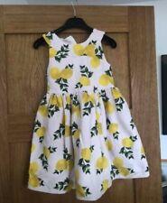 Girls Lemon Dress Belted 7 - 8 Years